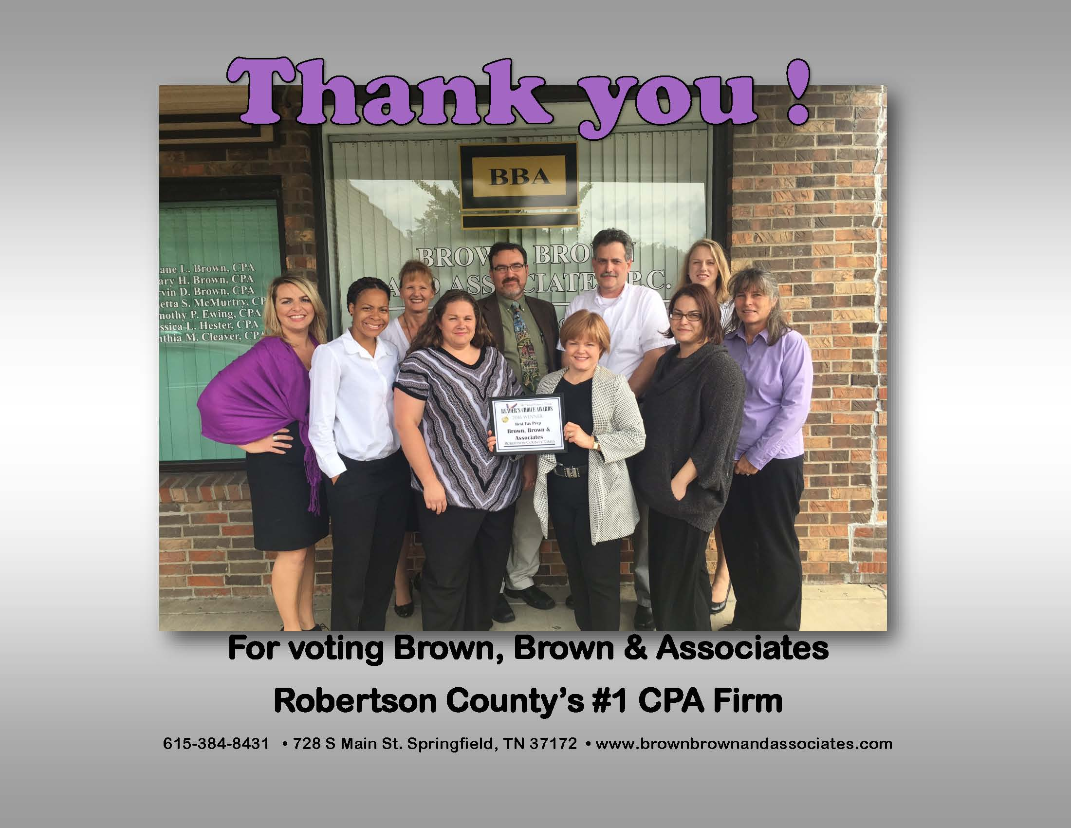Tennessee robertson county springfield - Thank You For Voting Us The 1 Cpa Firm In Robertson County